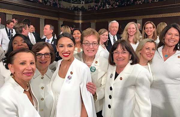 Democrats wearing white at President Trump's State of the Union address on Feb. 5, 2019 (Twitter)