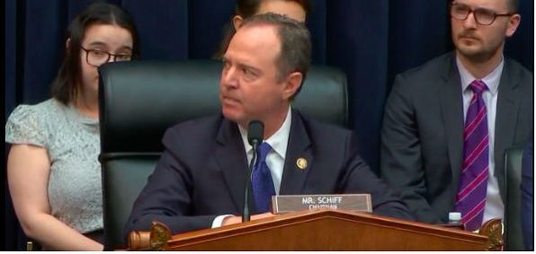 Rep. Adam Schiff, D-Calif., chairman of the House Intelligence Committee, at a hearing March 28. 2019 (Video screenshot)