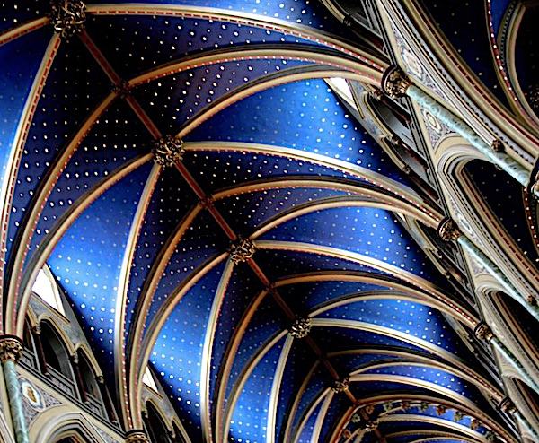 Ceiling of Notre Dame Cathedral in Paris, France (Twitter)