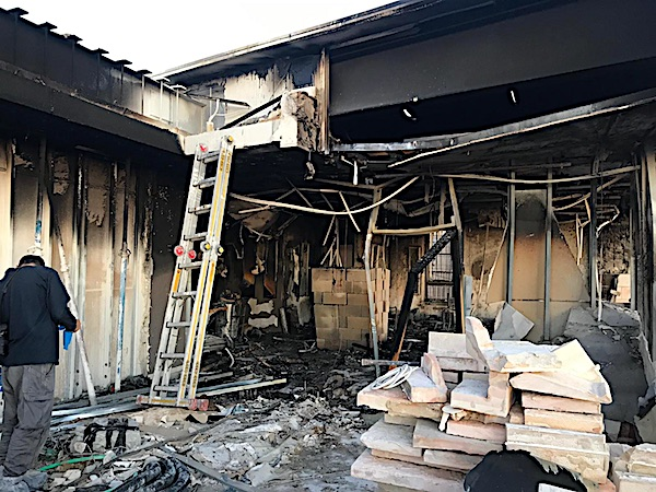 An arson attack left the Jerusalem studios of the Daystar Television Network in shambles on May 18, 2019 (Photo courtesy Daystar)