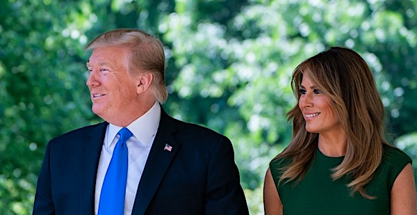 President Donald Trump and First Lady Melania Trump (Official White House photo)