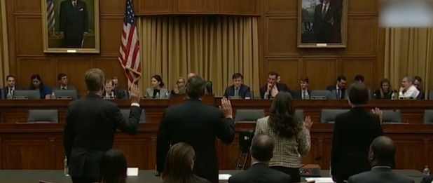 Swearing in without reference to God at a House subcommittee (Feb. 28, 2019)