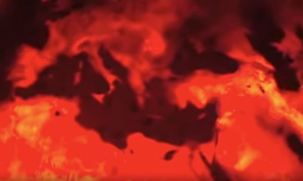 "An illustration of Europe and Africa burning up in the 2008 program ""Earth 2100"" on ABC. (Video trailer screenshot)"