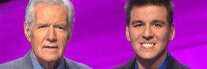 'Jeopardy' host Alex Trebek with James Holzhauer (courtesy Twitter/James Holzhauer)