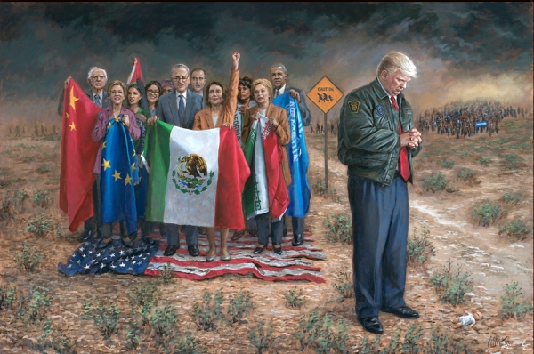 'National Emergency' by Jon McNaughton. Source: Jon McNaughton fine art. Prints available in either giclee or litho.