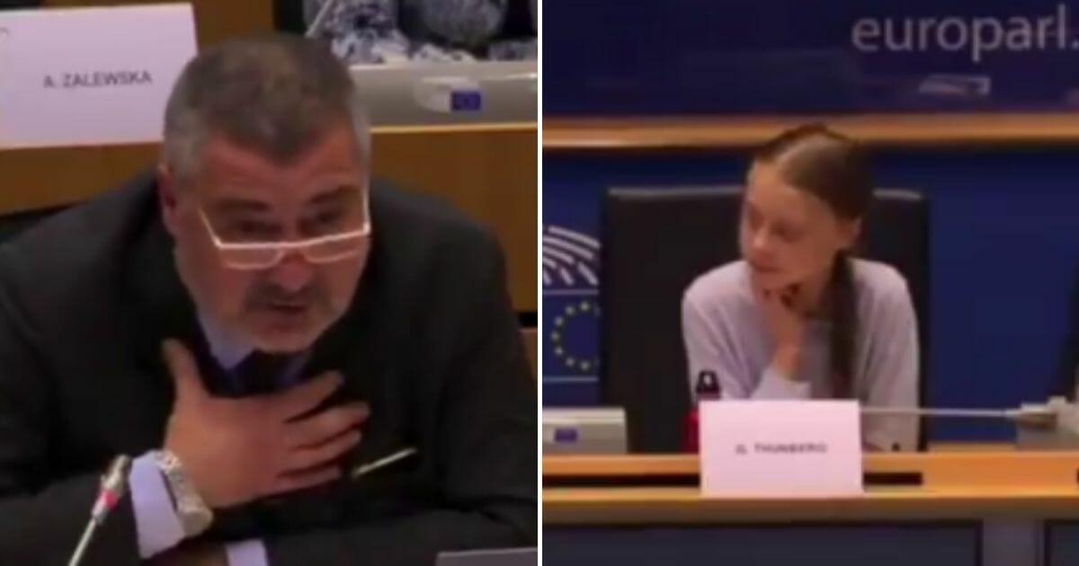 EU politician draws gasps when he tells Greta Thunberg to 'go back to school' - WND