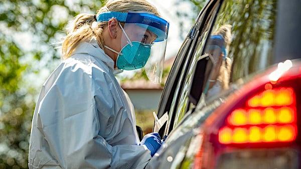 [face-masks-shield-coronavirus-covid-19-testing-swabbing-military-defense]