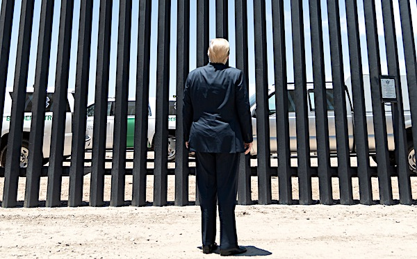 Trump rips Biden for 'spiraling tsunami' at border