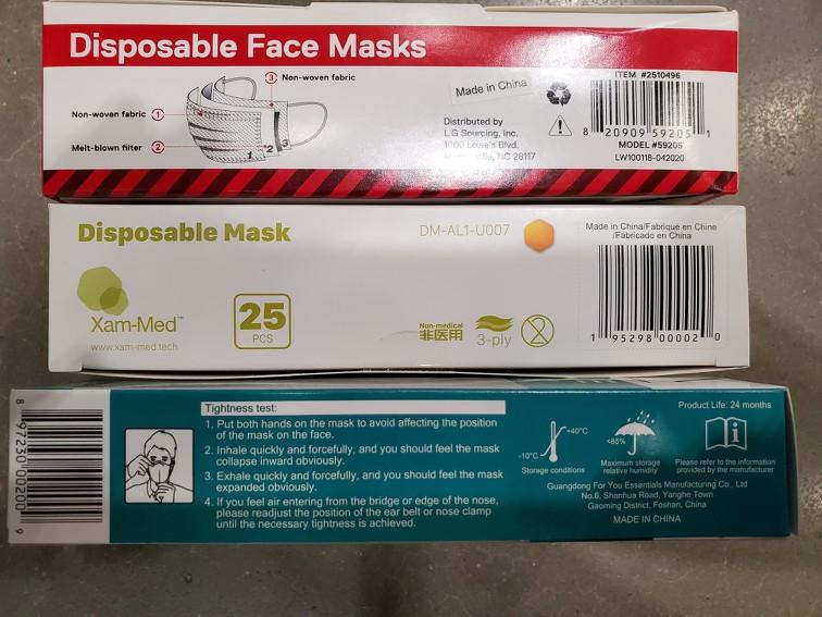 COVID masks 'made in China' -- oh, the irony 2