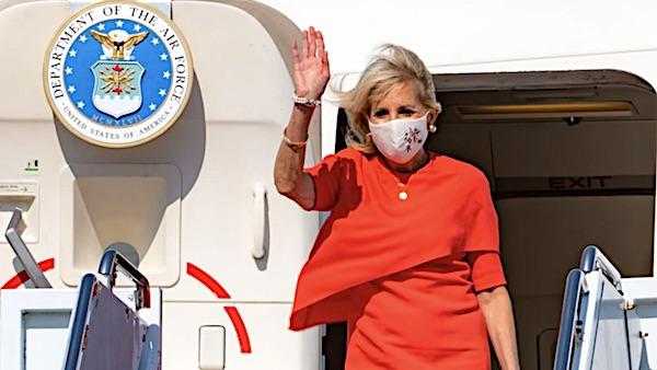 jill-biden-waving-masks-covid-coronaviru