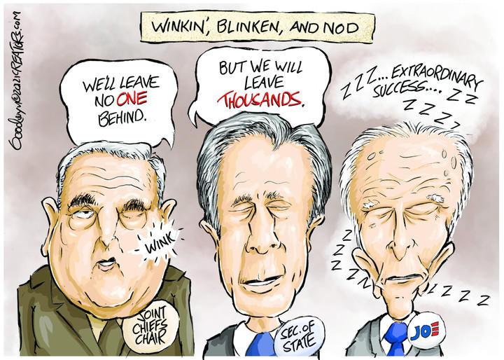 Milley, Blinken and Biden would make good cellmates